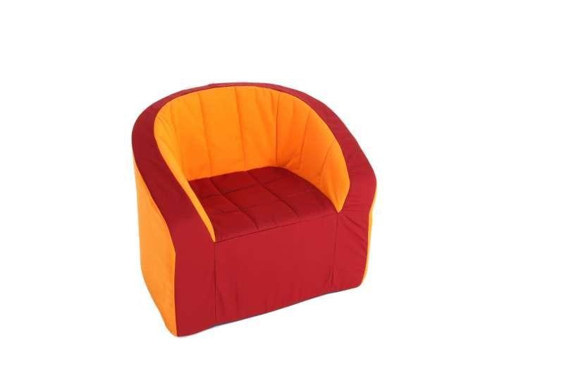 Křeslo (oranžová/červená)