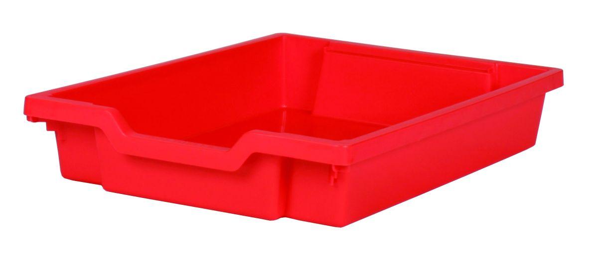 Plastová zásuvka SINGLE - červená Gratnells