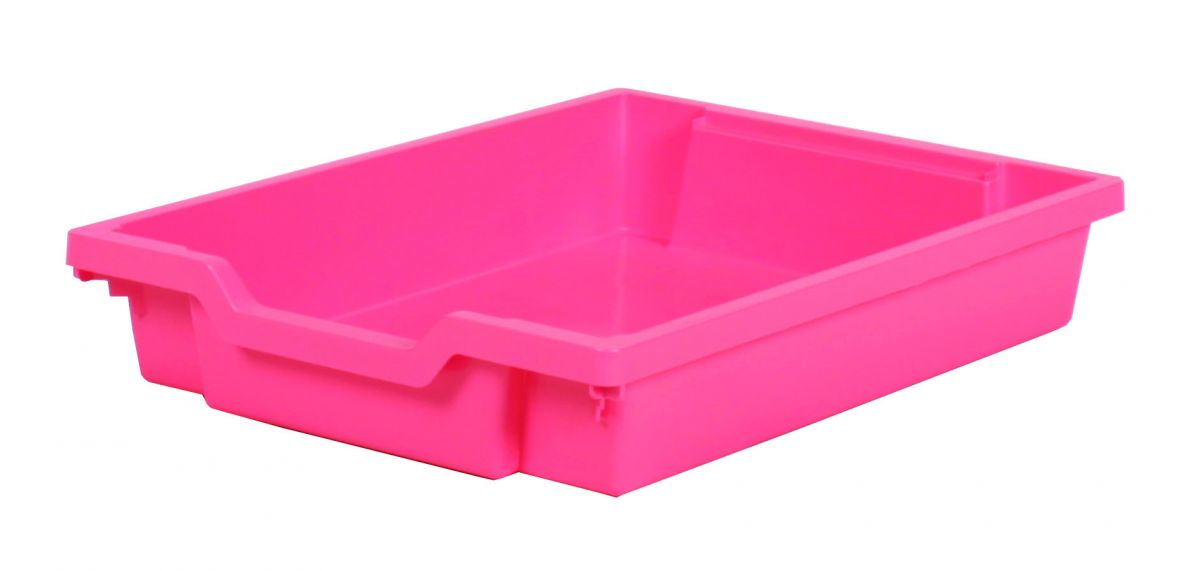 Plastová zásuvka SINGLE - růžová Gratnells