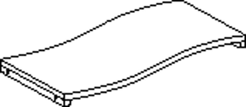 Profilová police pravá 80 cm