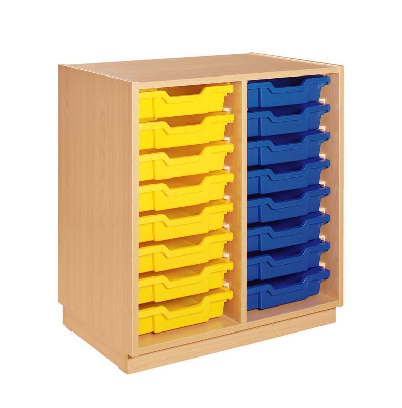 Skříňka s 16 plastovými zásuvkami