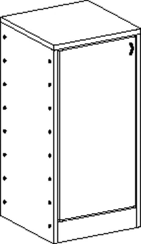 Skříňka se soklem se 2 policemi a dvířky