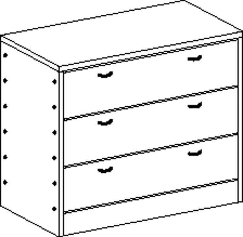 Skříňka se soklem se 3 zásuvkami