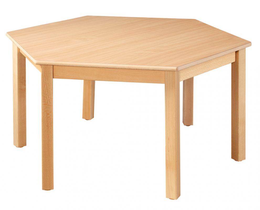 Šestistranný stůl o průměru 120 cm