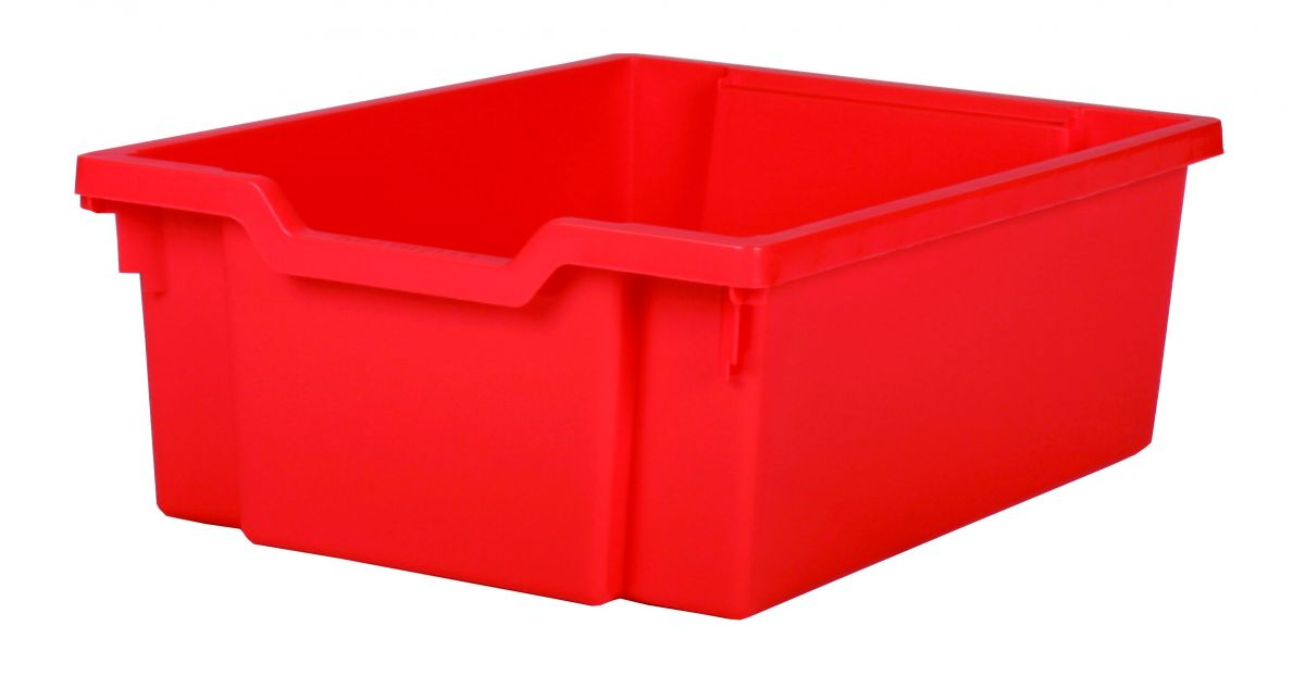 Plastová zásuvka DOUBLE - červená Gratnells