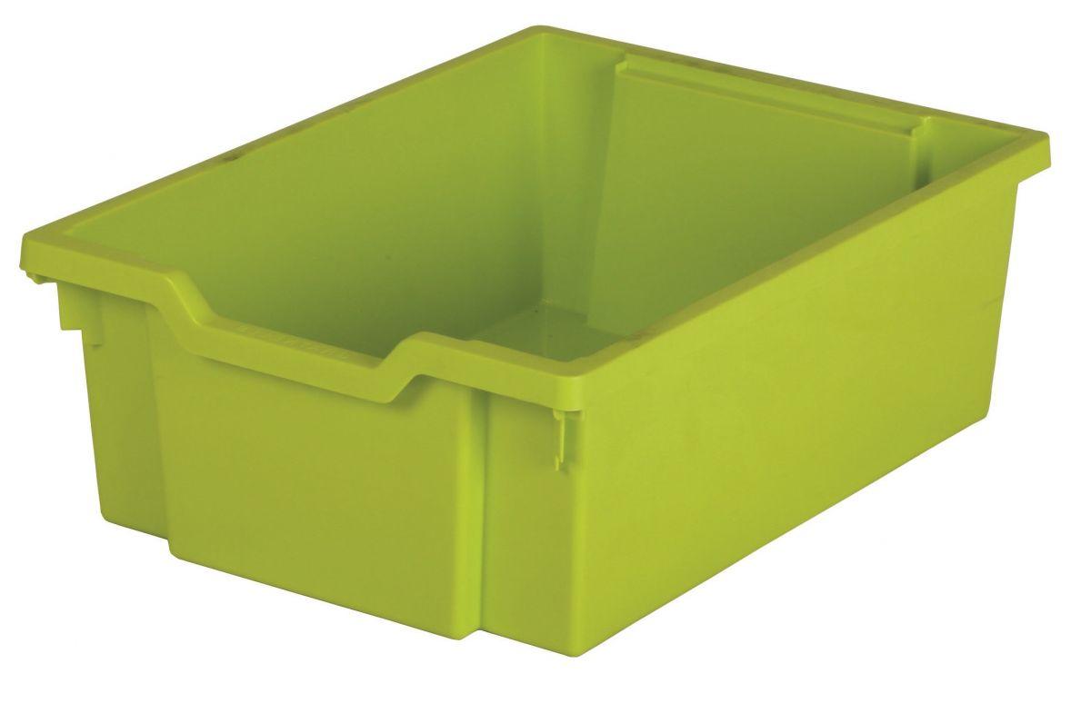 Plastová zásuvka DOUBLE - limetková Gratnells