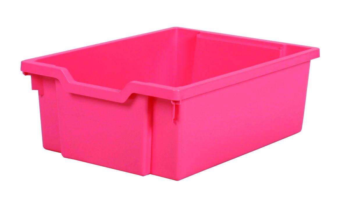 Plastová zásuvka DOUBLE - růžová Gratnells