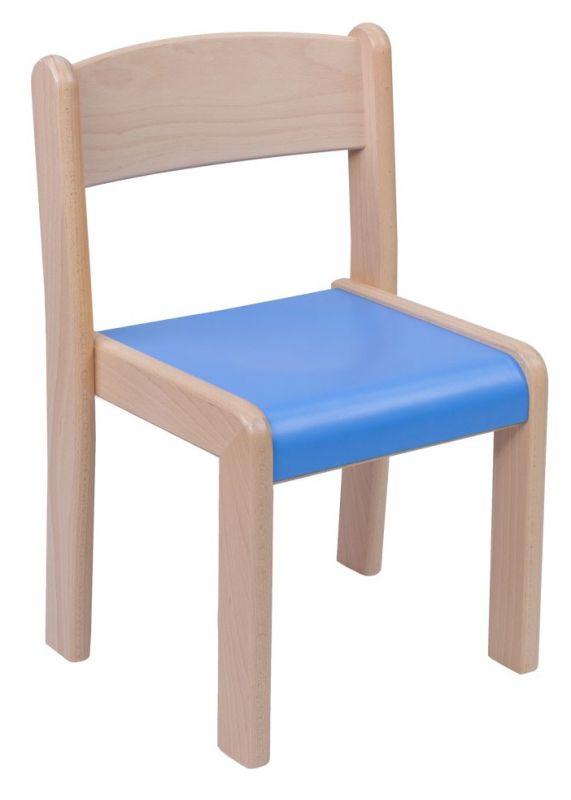 Stohovatelná židle VIGO - barevný umakartový sedák