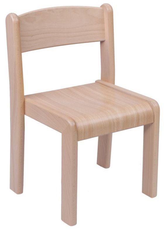 Stohovatelná židle VIGO - umakartový sedák dekor buk