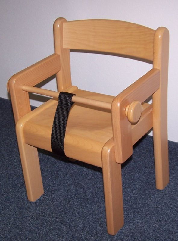 Židle TIM s područkou - přírodní+ZÁBRANA+POPRUH