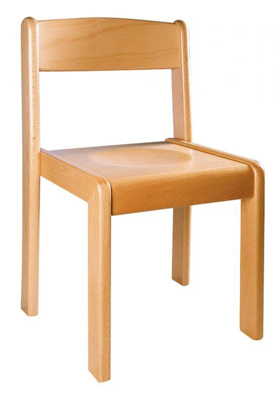 Stohovatelná židle TIM - přírodní
