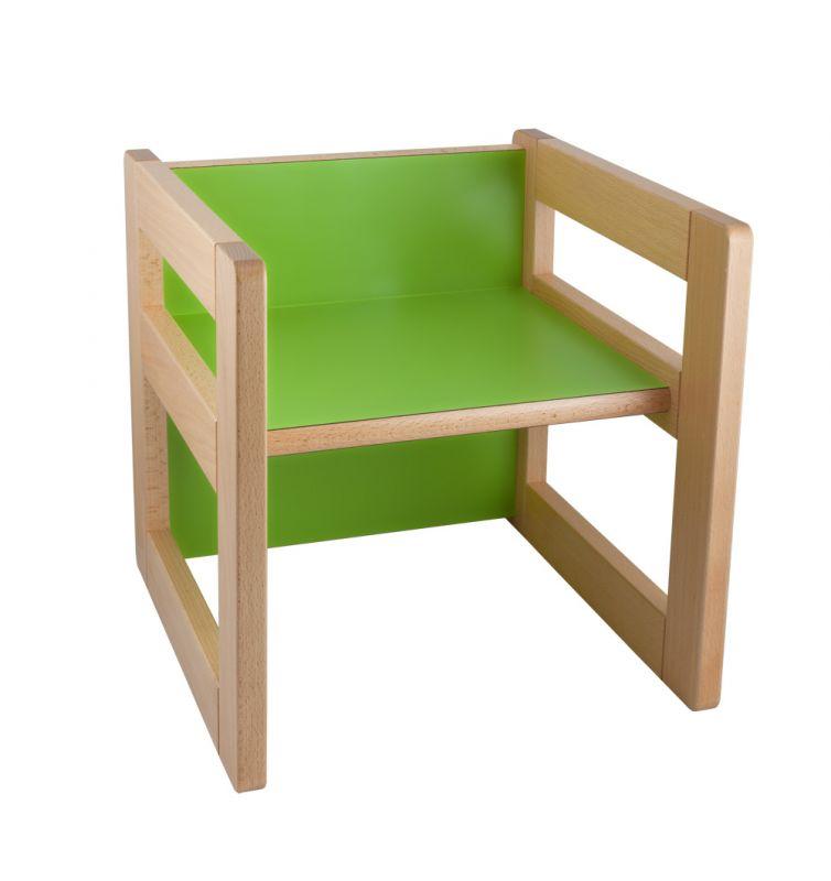 """Multifunkční prvek """"CUBE"""" jako židlička 15/22cm nebo stoleček"""