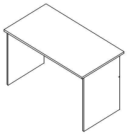 Psací stůl bez zásuvek rozměr 130 x 70 cm