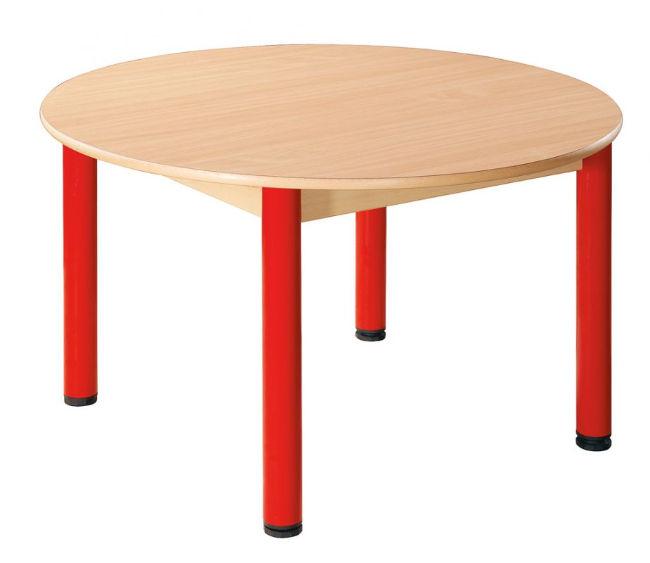 Stůl kulatý průměr 100 cm / kovové nohy s rektifikační patkou