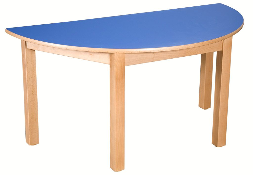 Stůl půlkulatý 120 x 60 cm