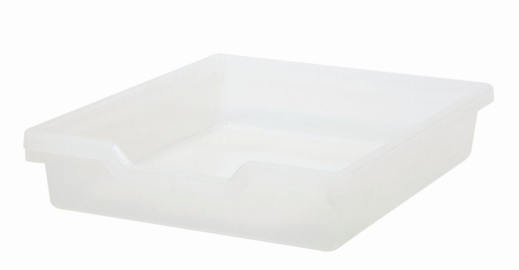 Plastová zásuvka N1 SINGLE - čirá Gratnells