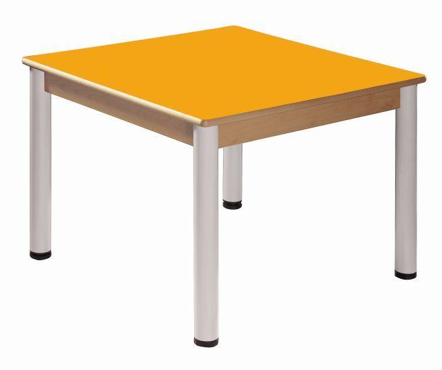 Stůl 80 x 80 cm / výškově stavitelné nohy 36 - 52 cm