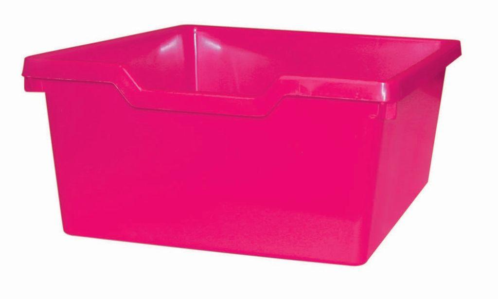 Plastová zásuvka N2 DOUBLE - růžová Gratnells