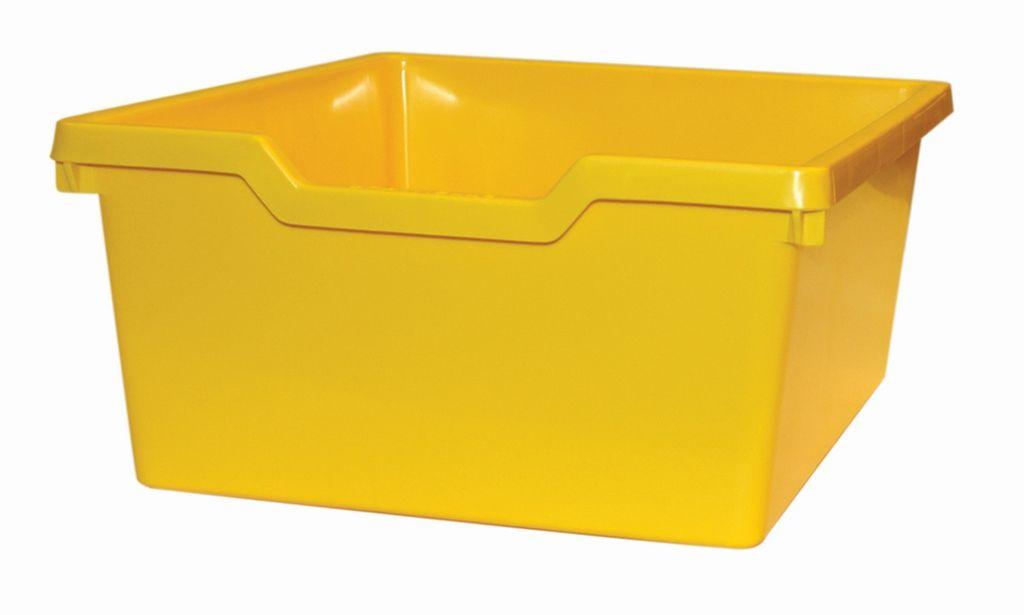 Plastová zásuvka N2 DOUBLE - žlutá Gratnells