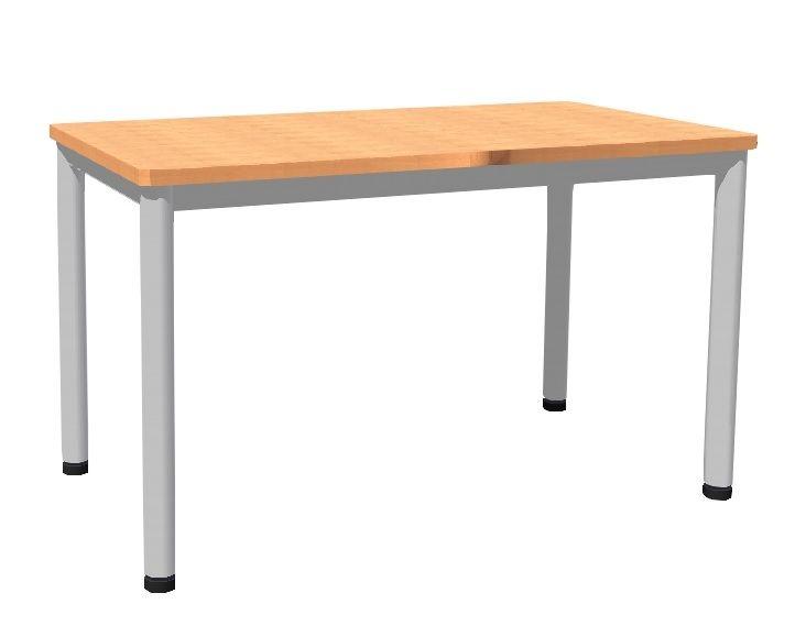 Stůl 120 x 80 cm / kovová podnož, lamino