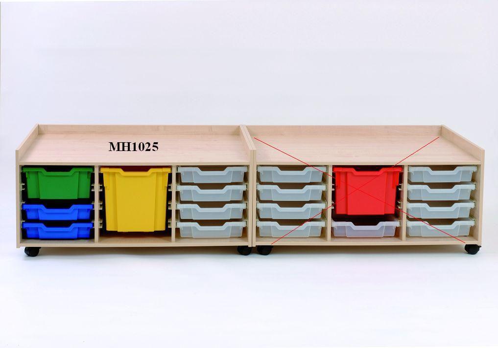 Hrací stolek se zásuvkami 104x77x51 cm