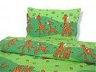Povlečení bavlna - Žirafa zelená 130x90/60x45