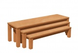 Set 3 laviček s umakartovým sedákem