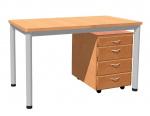 Stůl 130 x 70 cm / kovová podnož, lamino