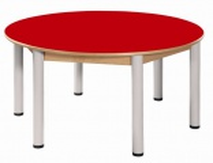 Stůl umakart kruh průměr 120 cm / výška 36 - 52 cm