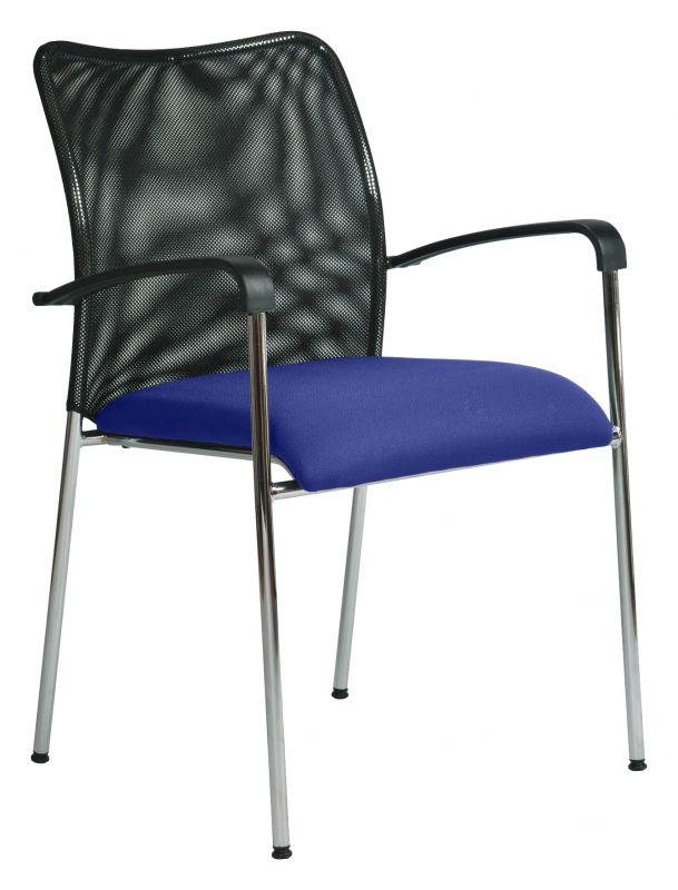 Židle jednací čalouněná s područkami