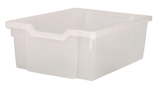 Plastová zásuvka DOUBLE - čirá Gratnells
