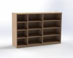 Skříňka na volné zásuvky, výška 100 cm, buk