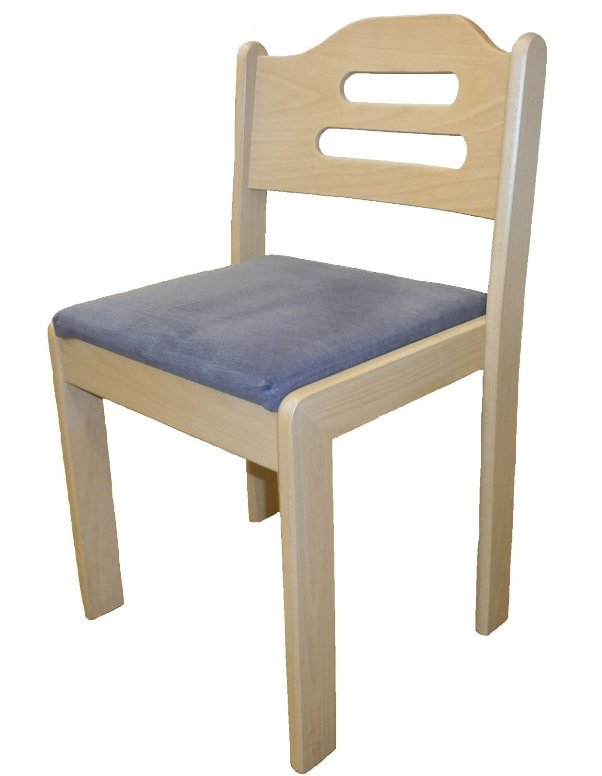 Židle stohovatelná - čalouněný sedák